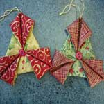 Pretty Fabric Ornaments