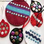 Dressed Up Felt Ornaments