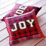 Plaid Christmas Pillow
