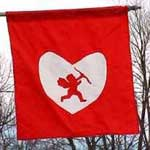 Valentine Yard Flag